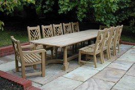 Garden Furniture - Chinoiserie Chairs & Refectory Table